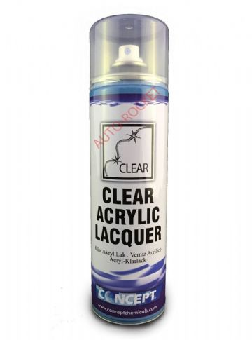 CLEAR ACRYLIC LACQUER SPRAY PAINT 450ML Fast For Valetors